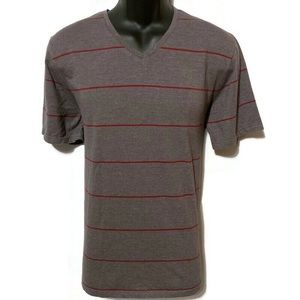 Banana Republic Men's Gray/Red Fitted T-Shirt